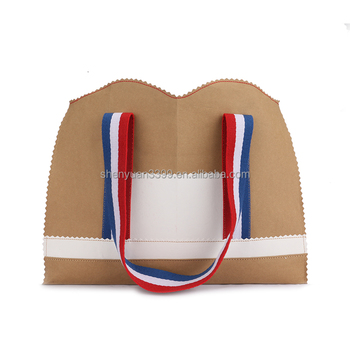 2016 Wholesale Kraft paper hand Bag Promotional Items paper shoulder bag online shop china women paper shopping bag