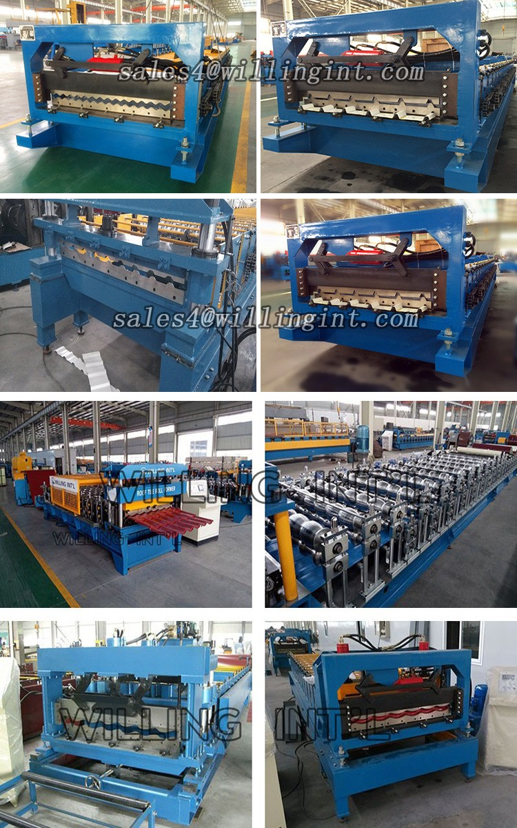 China High Quality Color Steel Galvanized Metal Aluminum Trapezoidal Sheet Roof Tile Wall Panel Roll Forming Machinery
