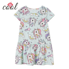 girl <strong>dress</strong> 2019 100% cotton kids Unicorn printed <strong>girl's</strong> dressesfor summer