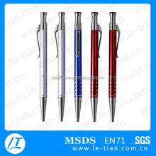 LT-Y264 beautiful anodized aluminum ballpoint pen with press