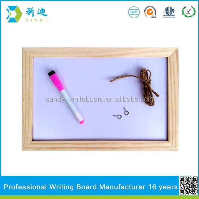 Lanxi xindi wood frame magnetic writing board for kids