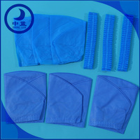 Non-woven bouffant caps food industry medical processing disposable caps