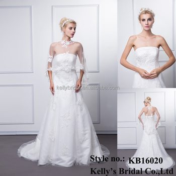 Custom made hot sale elegant 100% real photos sleeveless appliqued drycleaning floor length wedding dress rhinestone appliques