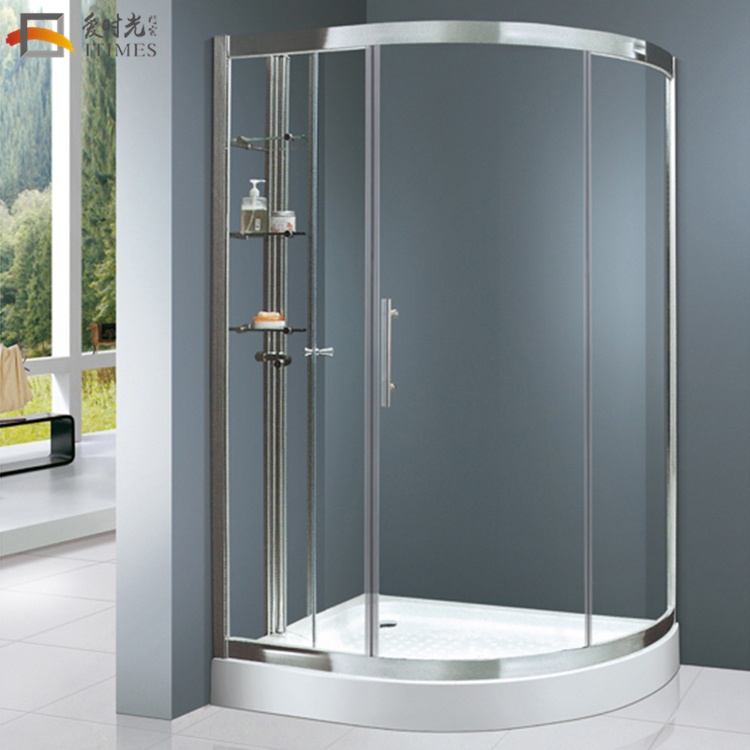 2018 custom lowes freestanding  fiberglass shower enclosure tempered glass circular mini shower enclosure