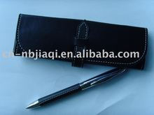 high quality metal ball leather pen set