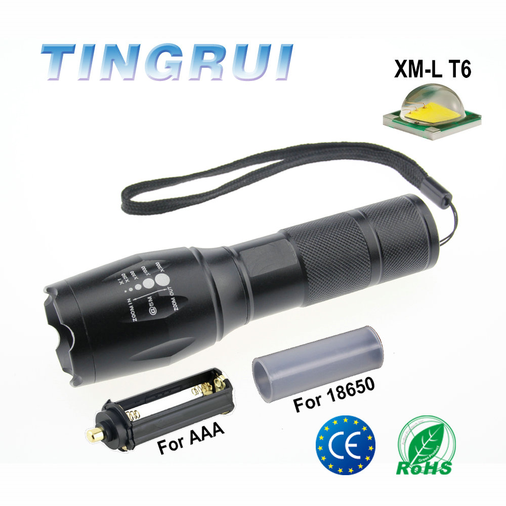 <strong>Manufacturer</strong> Logo Printed 5 Modes rechargeable led Tactical flashlights G700