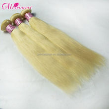 unprocessed 100% virgin remy human blonde hair top quality drop shipping