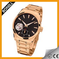 2015 unisex gender watches luxury skeleton automatic mechanical watch movement