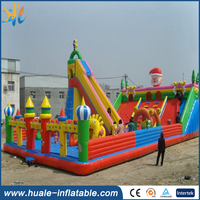 popular New arrival inflatable funny world with slide and climbing