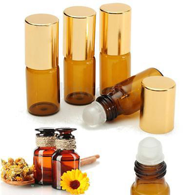 Custom design roll on bottle with glass roller with price