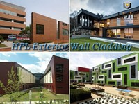 2015 new modern durable decorative material outdoor wall hpl board fireproof Panels Interior Various Thickness hpl panel