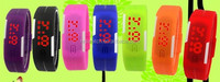 light touch LED watch jelly bracelets electronic watches boys and girls students