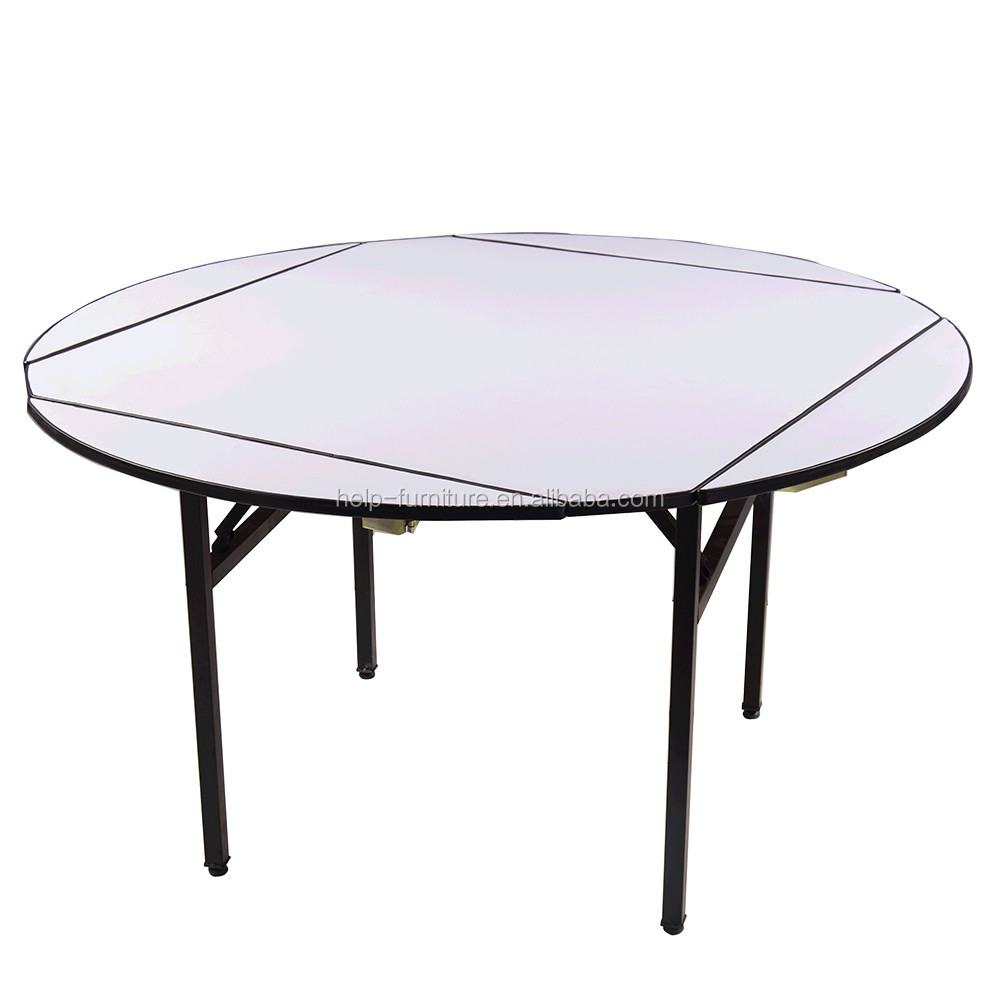 Round folding tables for restaurant top made in China