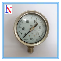 "4"" Stainless steel EN 837-3 Wika Manometer with adjustable pointer"