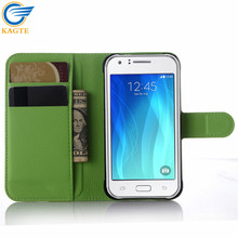Brand New product Lichee grain mobile phone wallet flip leather case/cover for Samsung Galaxy J5/J500G