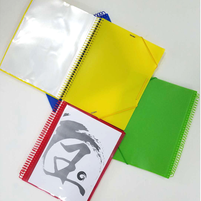 Factory custom personality cover plastic expanding portfolio file folder with elastic band