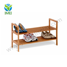 YM5-833 custom 2 Tier Portable Bamboo Shoe Rack