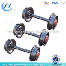Crane parts trolley using traveling machinery parts forged steel wheels