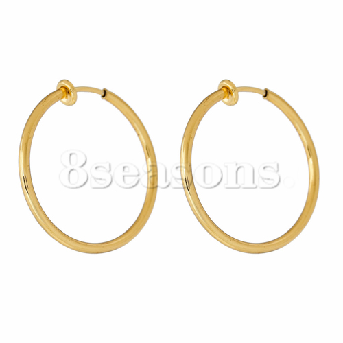 0.8mm Brass Women Non Piercing Clip On Fake Nose Lip Ear Hoop Rings Earrings Gold Plated Earring Hoops Findings