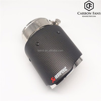 Universal Akrapovic Carbon fiber Exhaust tip,51/57/60/63/67/70mm--76/89/101/114mm,304 Stainless Steel