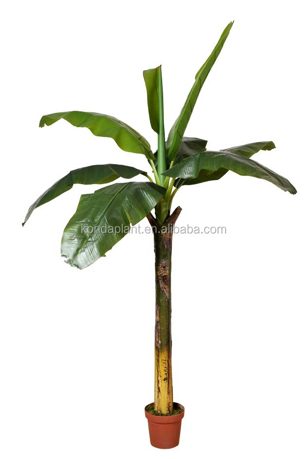 Indoor home decorative artificial banana for Artificial banana leaves decoration