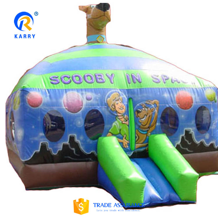 Alibaba certificated supplier scooby doo inflatable castle,inflatable jumping castle,inflatable castle slide for sale