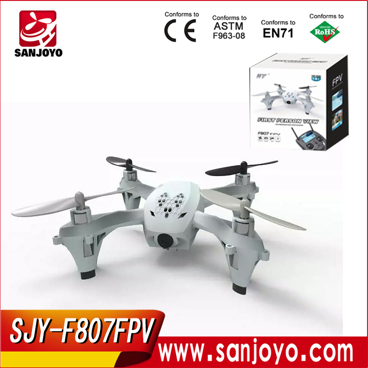 F807 quad-rotor RC drone 2.4ghz 4ch gro radio control ufo with fpv hd camera rc toys air plane
