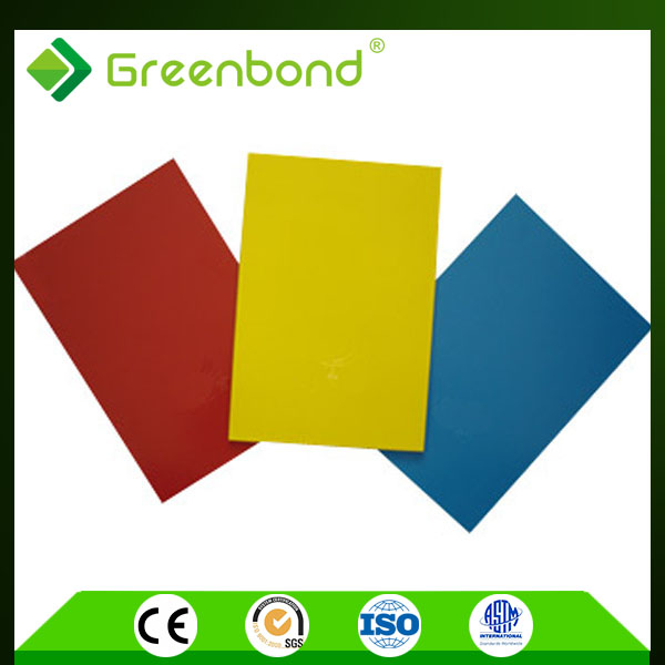 Greenbond fast delivery electroluminescent colorful panel acp sheet