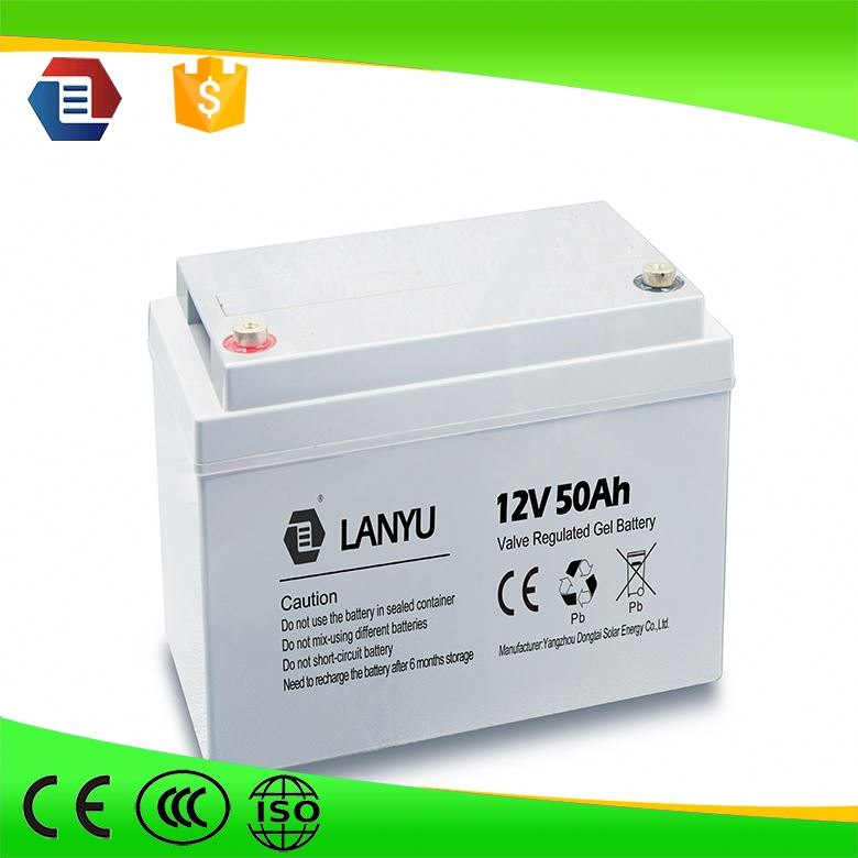 Gel Batteries 12v 50 ah for Solar System Gelled Battry with EC ISO certificate