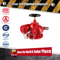 Red color 2-way multipurpose pumper connection for fire hose