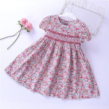 girls smocked <strong>dresses</strong> summer flower <strong>dress</strong> for <strong>girl's</strong> clothes boutiques kids clothes wholesale children <strong>dress</strong> fashion