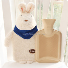plush fluffy bulk massage PVC rubber hot water bag bottle