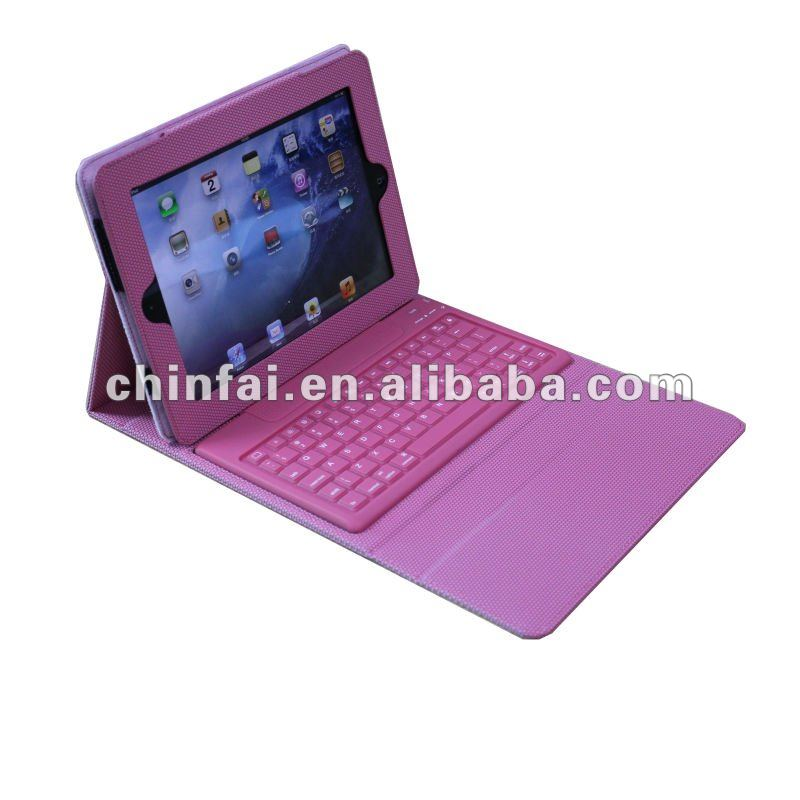 Mini keyboard with protective case/bluetooth for Ipad 2/new ipad