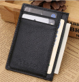 Magic Wallet slim money clip credit card holder ID business mens leather card sleeve