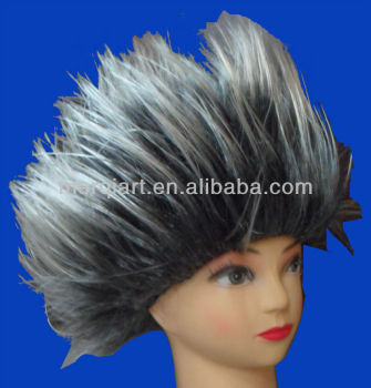 New fashion crazy wig in grey colour wig