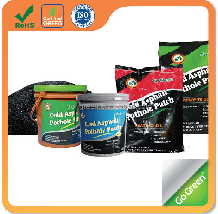 Go Green cold asphalt pothole/Instant road repair cold asphalt material