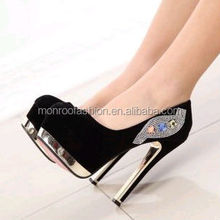 Monroo 2014 new style Sweet fashion round toe paint women's leather shoes