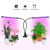 Hot slaes Amazon new products timing function dual head led grow light with clips led light