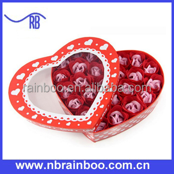 Hot selling 24 pcs rose shape soap flower bouquet ABPS027