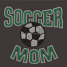 The Real Moms of Soccer Bling Rhinestone Hot-fix Heat Transfer