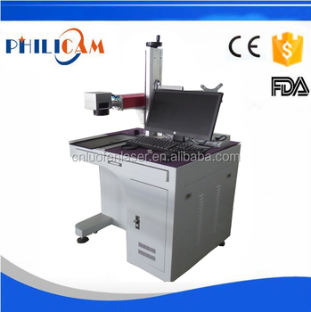 FLDJ stainless steel 20w fiber laser marking machine with color