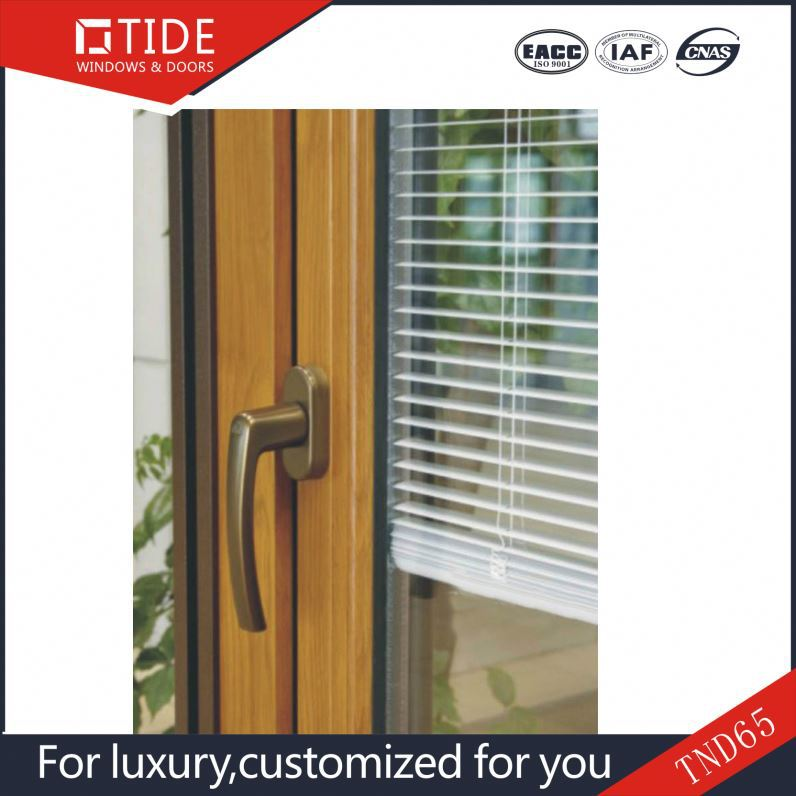 UPVC Shutter casement window For Residential Home,White Color Profile, Operable louvers
