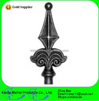 Ornamental Wrought Iron Spearhead Iron Fence Finials &Metal Fence Finial