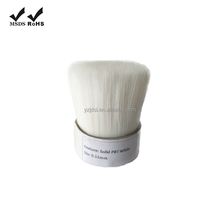 white wool-like brush solid hollow tapered PET filament