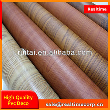0.3mm wood grain MDF decorative lamination pvc foil