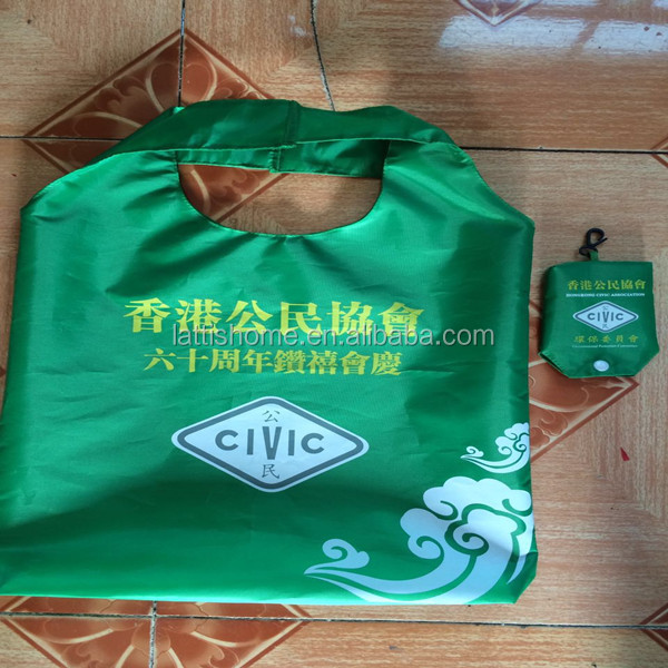 Hot selling customized eco friendly reusable folding biodegradable shopping bags