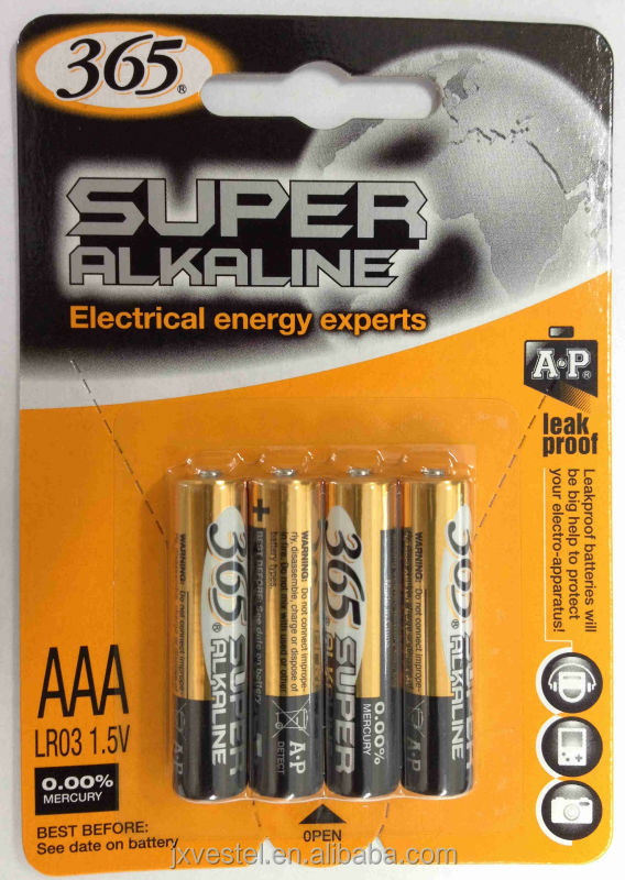 Super Alkaline AAA/LR03/AM4 BATTERY