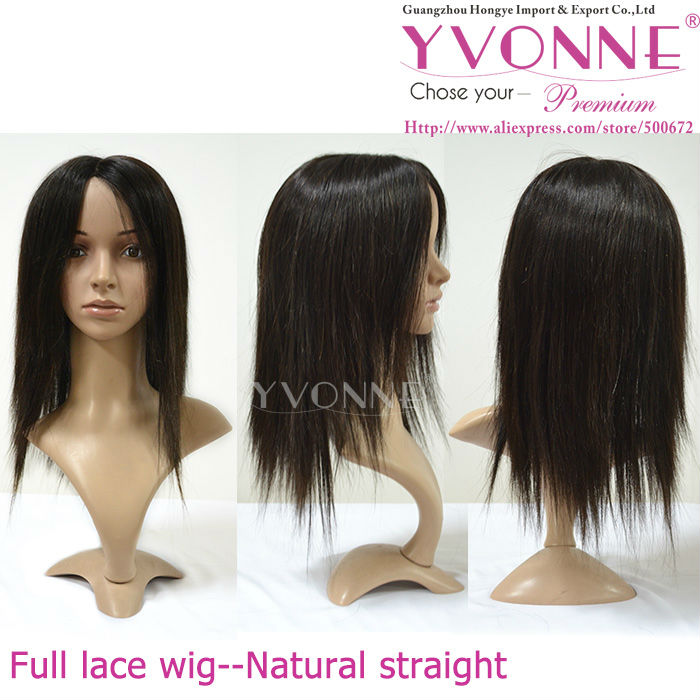 Attractive price Silk top glueless cap Indian hair full lace wig double knotted