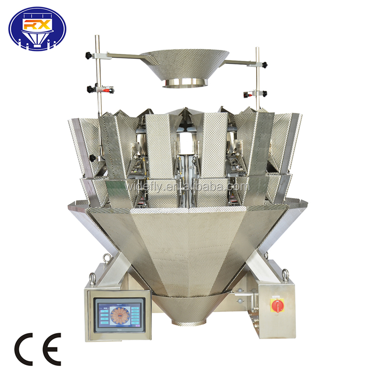 China multihead weigher for food industry and plastic hardware industry