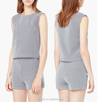 stripe print cotton slim concise simple sexy women tight shorts